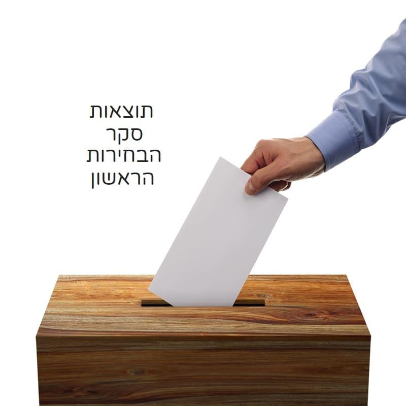 תוצאות סקר הבחירות הראשון